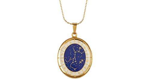 Alex y Ani Oro Celestial Rueda Sagitario Constelación Collar a15en37yg