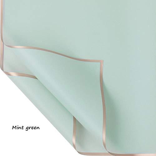 5 stks/pak effen kleur waterdichte mist papier bloem cadeaupapier bloemisten levert diy plakboek ambachtelijke papier, mintgroen