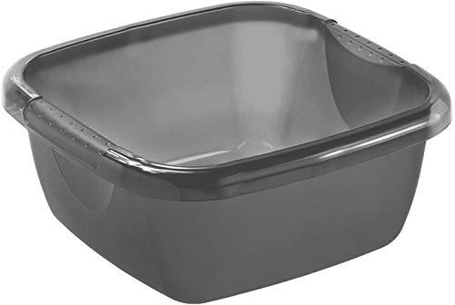 Rotho Daily Becken / Spülwanne 5l eckig, Kunststoff (PP) BPA-frei, anthrazit, 5l (29,0 x 29,0 x 12,0 cm)