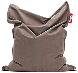 Fatboy® The Original Stonewashed Pouf Poire Bean Bag/Coussin/Fauteuil/canapé d'intérieur XXL | Taupe | 180 x 140 cm