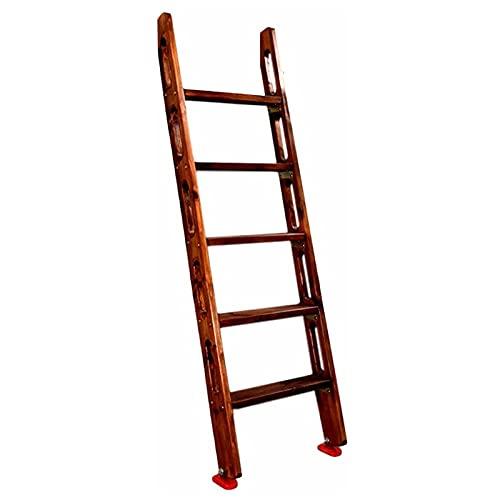 Escalera de mano Escalera de Madera para Litera, Escalera para Literas de 4/5 Pasos Escalera para Literas con Dos Camas con Gancho y Almohadillas de Goma para Los Pies, para Uso en Dormitorio de Granj