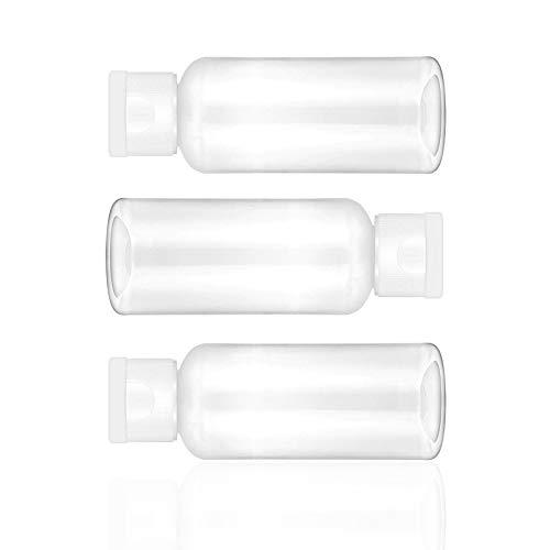 Leere Reiseflaschen aus Kunststoff, 50 ml, mit Klappdeckel, 6 Stück