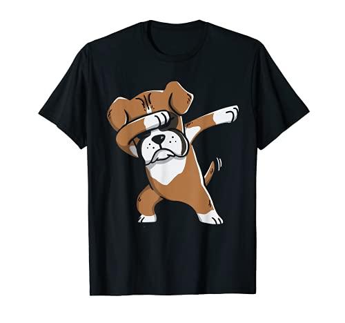 Boxeador Alemán Regalo Amante Dabbing Perro Camiseta