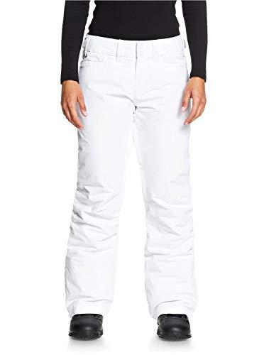 Roxy Backyard-Pantalón para Nieve para Mujer, Bright White, M