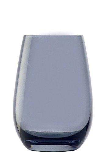 Stölzle Lausitz Elements Becher in rauchgrau, 465 ml, 6er Set Gläser, spülmaschinenfest, Bunte Trinkbecher, hochwertige Qualität