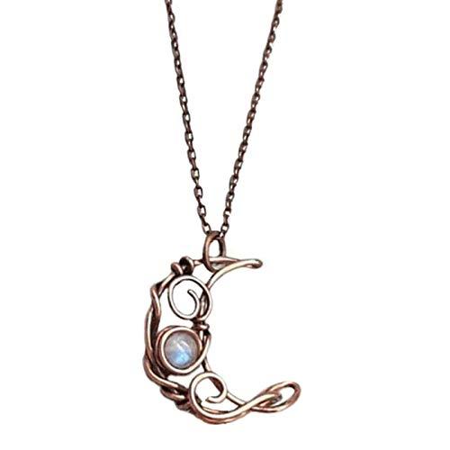 Boylee Fashion Women Moon - Collar colgante para mujer, joya para regalo, diseño de luna