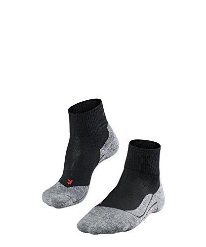 FALKE Herren M Socks Wandersocken TK5 Short - Kurze Wanderstrümpfe mit Merinowolle für den Freizeitschuh, 1 er Pack, Schwarz (Black-Mix 3010), 44-45 (UK 9.5-10.5 Ι US 10.5-11.5)