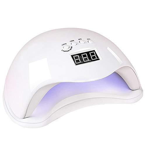 Bdb Mini Nail LED Sèche Lampe UV Séchoirs À Ongles Portable USB Durcissement Lampe avec Trois Réglage Minuterie Cadeau (Couleur : White(48W))