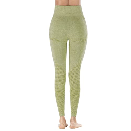 QTJY Pantalones de Yoga elásticos de Secado rápido para Mujer, Mallas Sexis para Levantar la Cadera, Pantalones Deportivos de Cintura Alta para Correr al Aire Libre, HL