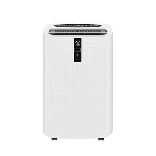 Famgizmo Portable Air Conditioner Unit, 12000 BTU 4in1 Air Conditioning with Air Cooler, Dehumidifier, Fan & Sleeping Mode, 24H Timer, WIFI & Remote Control, LED Panel Display, R290 [Energy Class A]
