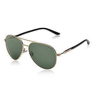 LUENX mujer Gafas de sol Aviador polarizado con estuche - UV ...