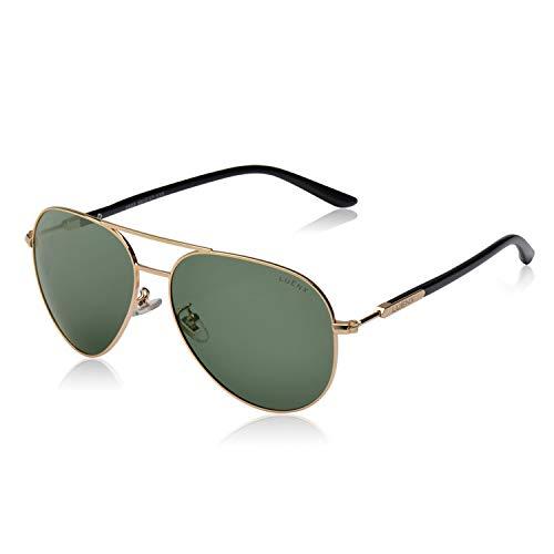 LUENX Hombre gafas de sol Aviador polarizado UV 400 Protección
