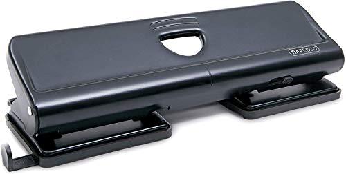 Rapesco Perforateur 4 trous 720 en Métal Capacité de 20 Feuilles (Lot de 1) Noir