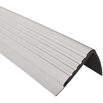 Antideslizante Perfil para cantos de escaleras Escaleras ángulo perfil PVC Goma PMW-F3, 1.5 metros, 48 x 42 mm: Amazon.es: Bricolaje y herramientas