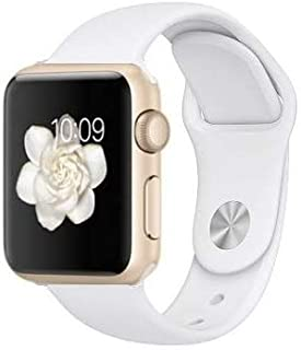 Apple Watch Series 2 Smartwatch 42mm Gold Aluminum Case, White Sport Band GPS (Refurbished