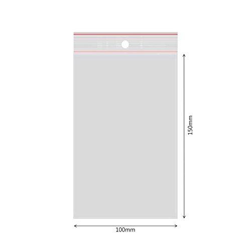 verpacking 500 Druckverschlussbeutel Polybeutel Zip-Beutel Verschiedene Größen 100 x 150mm