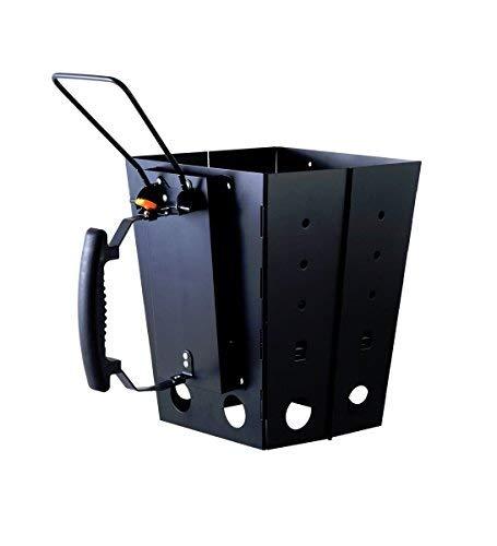 Oztrail Briquet en carbone pliable fabriqué en acier avec sac de transport 1,7 kg 20 x 25 x 6 cm Folding Charcoal Starter OCF-SCF-D Cheminée d'allumage en acier