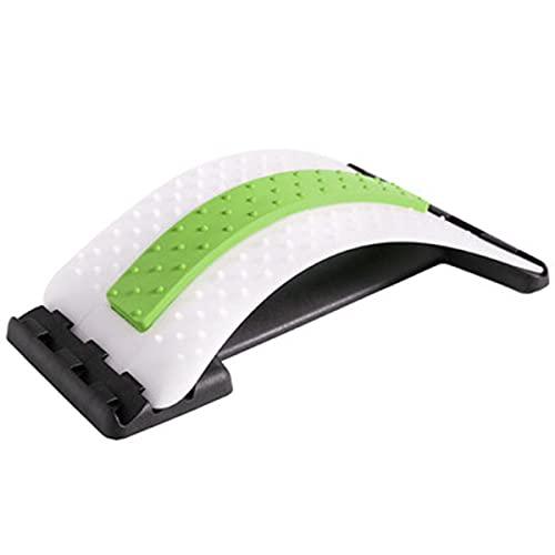 MTYQE Dispositivo de Estiramiento de Espalda multinivel, masajeador de Espalda, Camilla de Soporte Lumbar, Alivio del Dolor de Espalda, Alivio del Dolor Muscular