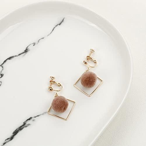 Long Style Clip on Earrings for Women Fashion Pearl Crystal Shell Tassel Heart Butterfly Geometric No Pierced Earrings