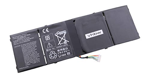 vhbw Batería Compatible con Acer Travelmate X313-M-5333Y4G12AS, P446-M-57BP, X313-M-6824 Notebook (4000mAh 15V Li-Ion)