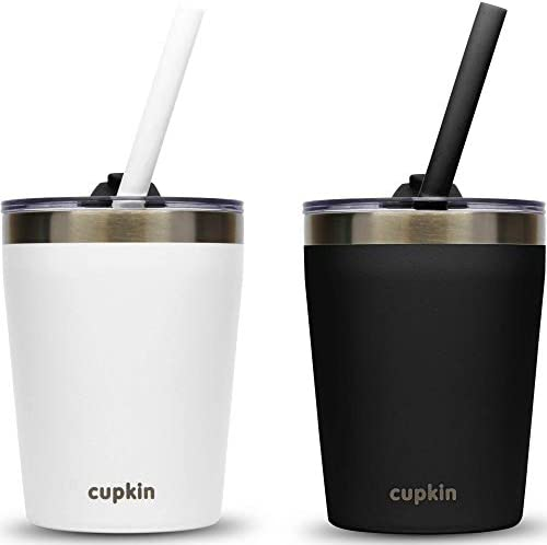 Stackable Stainless Steel Kids Cups for Toddlers EASY to Clean Set of 2 Powder Coated Vacuum product image
