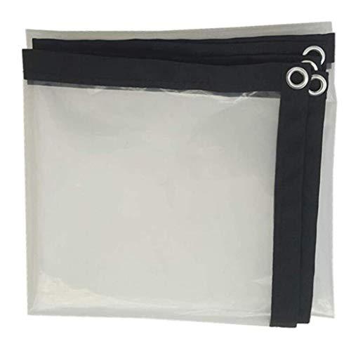 QI-CHE-YI Heavy-duty tarpaulin, PE waterproof cloth with sunscreen net for courtyard balcony,2x6m