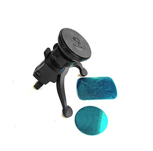 woox Soporte Universal Magnético para Rejilla del Coche Rotacion 360º con 2 Placas metálicas WE2434