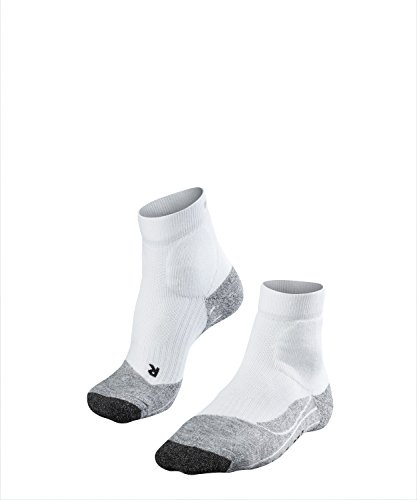 FALKE Herren, Tennissocken TE2 Short Baumwollmischung, 1 er Pack, Weiß (White-Mix 2020), Größe: 44-45