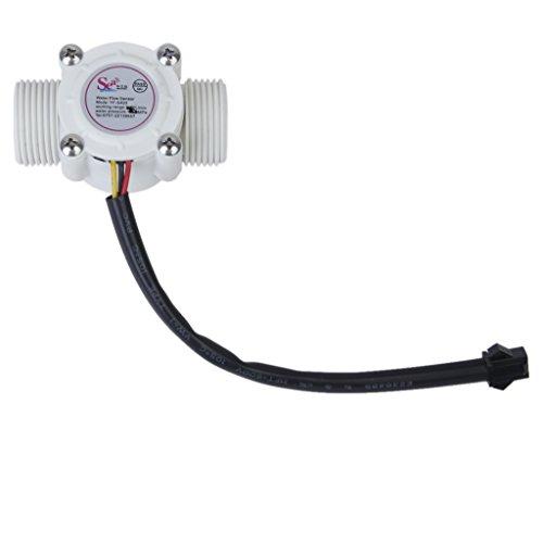 Sensor de Flujo de Agua 3/4' Rosca Externa 1-60L / min Control de Agua...