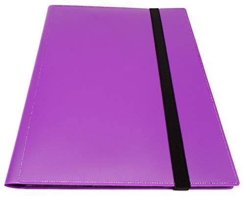 docsmagic.de Pro-Player 9-Pocket Album Purple - 360 Card Binder - MTG - PKM - YGO - Álbum para Tarjetas púrpura