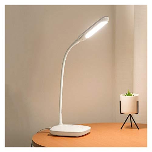 Lámpara Escritorio LED Lámpara de escritorio LED Lámpara de mesa de mesa de noche Moderna Lámpara de escritorio de enchufe simple para la oficina en casa, interruptor de botón, 4000K Luz natural Lámpa