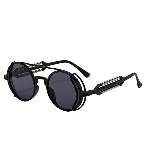 DTMEFJ Gafas de sol Steampunk Retro para hombres Gafas redondas Punk Estilo gótico 2021 Nuevos productos Mujeres Gafas de sol UV400
