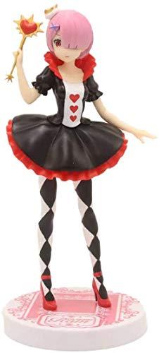 No Compluser Anime Re Zero Rem Ram PVC Figura Estatua Figura de acción Juguete Coleccionable, 21 cm Modelo de Anime Escultura colección Regalo