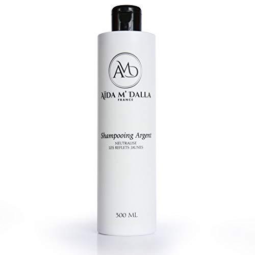Shampoing silver dejaunisseur professionnel neutralise les reflets jaunes des cheveux 300 ml | Cosmétique AMD France