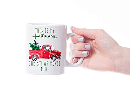 This is My HALLMARK CHRISTMAS Movie Watching Mug, Stocking Stuffer Present, Christmas Tree
