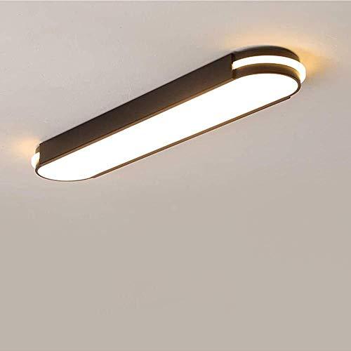 LED Plafondpaneel Ailik, Acryl Plafondlamp Rechthoekig Hoge Transparantie Lampenkap Creatief Ovaal Decoratief, Wit ~ 6000k, 35cmWit Zwart
