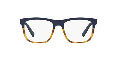 AX Armani Exchange Ax3050 - Marcos cuadrados para gafas, Lentes de demostración mate Havana/azul mate., 53 mm