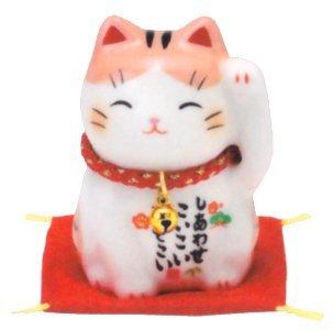 Matsumoto-Toki Fortune uitziende keramische kat (bruin) 7535