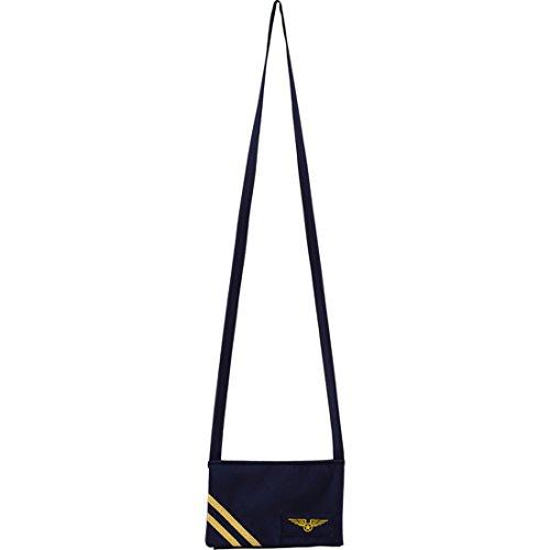 Amakando Flugbegleiterin Handtasche Pilotin Fliegertasche blau Jet Set Pilotentasche Stewardess Tasche Karnevalskostüme Accessoires Damen Pilotenkostüm Damenhandtasche Flugzeug Damentasche