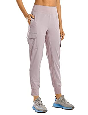 CRZ YOGA Women's Quick Dry Lounge Joggers with Pockets High Waisted Training Cargo Pants Workout Clothes Moonphase XS