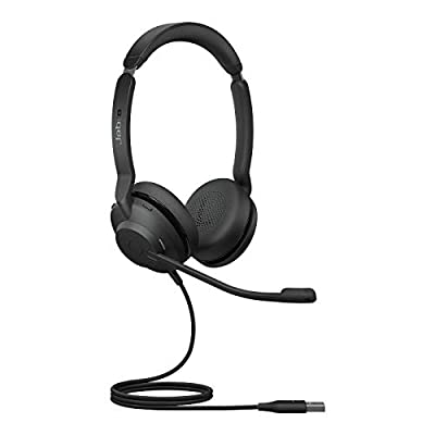 Jabra Evolve2 30 Headset – Noise Cancelling UC Certified Stereo Headphones With 2-Microphone Call Technology – USB-A Cable – Black from Jabra