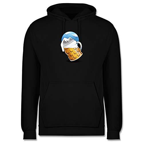 Skiurlaub Apres Ski - Bierberge - 4XL - Schwarz - ski Hoodie Herren - JH001 - Herren Hoodie und Kapuzenpullover für Männer