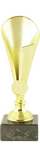 Mini Pokal Award Alabama inkl. hochwertigen Alu-Gravurschild mit Wunschtext (Gold, 21 cm)