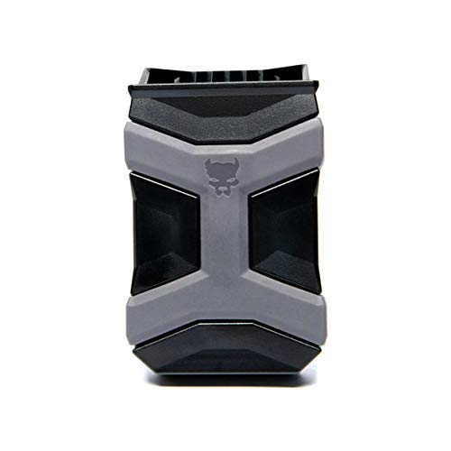 PITBULL TACTICAL Universal Mag Carrier Gen 2, Single or Double Stack Mag Pouch, OWB or IWB Mag Holster, Ambidextrous, Mag Pouch for Belt, Fits Glock 9mm 1911 S&W Sig Sauer Beretta and More (Black)