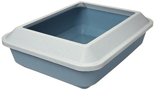Catit Katzentoilette Größe M mit Rand marmor, weiß/nebelblau