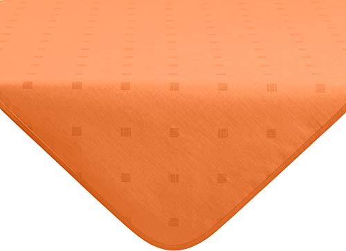 Erwin Müller abwaschbare Tischdecke, Mitteldecke Neuss im Rautendesign, Terra Größe 80x80 cm - acrylversiegeltes Gewebe für leichtes Wischen (weitere Farben, Größen)