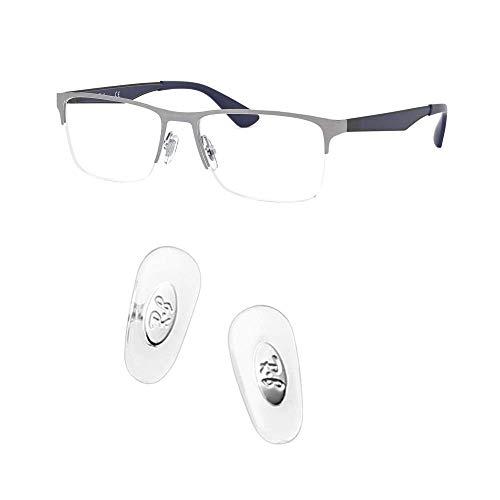 ceydeyjp ray ban 交換用ノーズパッドを押し込んで、レイバンRB6335サングラスレンズキット付きサングラス修理キットに適合 (銀色)