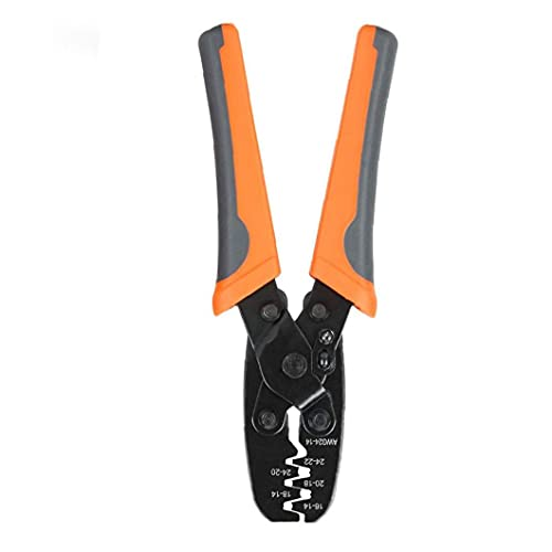 Hand grip Terminal Crimper Tool Clamp Pliers Crimping Tool Open Barrel IWS-1424A for Waterproof Sealed Connectors Orange