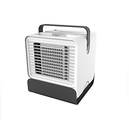Bar Stools Mini Aire Acondicionado Refrigeración Artefacto portátil Desktop Desktop Cooler Fan Dormitorio Dormitorio Estudiante Micro Portátil (Color: Blanco, Tamaño: 15.1 * 15 * 17.1cm)