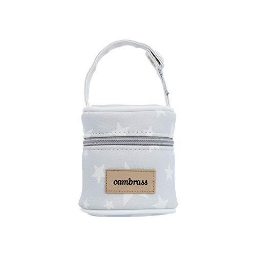 Cambrass Etoile - Porta chupete, 8.5 x 8.5 x 11 cm, color gris